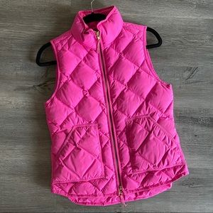 J. Crew Excursion Puffer Quilted Vest, Hot Pink